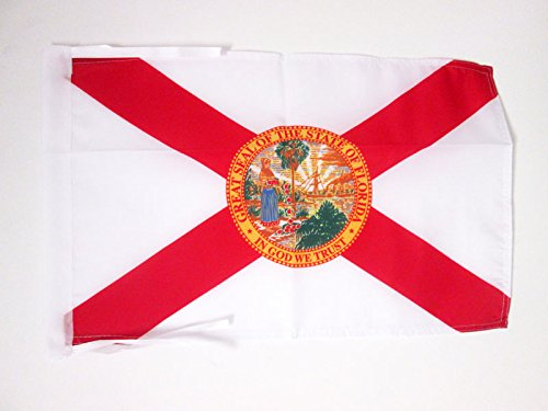AZ FLAG Flagge Florida 45x30cm mit Kordel - Bundesstaat Florida Fahne 30 x 45 cm - flaggen Top Qualität