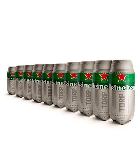Heineken Torp, 10 Stück, Bierfass, 2 l, kompatibel mit Bierzapfanlage TheSub
