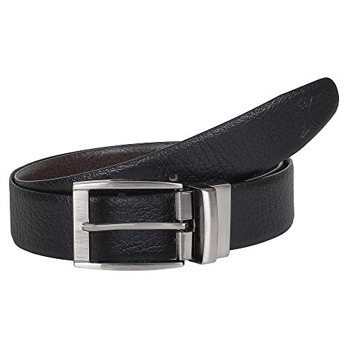 CREATURE Men's Genuine Leather Black & Brown Reversible Belt