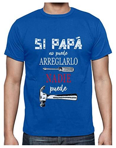Green Turtle Camiseta para Hombre- Regalos para Hombre, Regalos para Padres. Camisetas Hombre Originales Divertidas - Si Papá no Puede Nadie Puede - - X-Large Azul