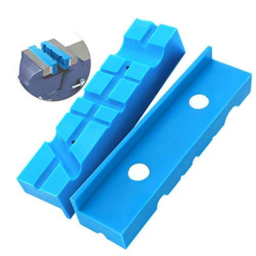 Morsetto magnetico per ganasce a morsa, 2 pezzi, con striscia di protezione magnetica multi-scanalata per morsa, multiuso, per panche lunghe e morsa 140 mm, Non null, Blu, Taglia libera