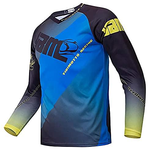 MTB Fox Mountain Bike Camisetas Offroad, Motocross Jersey Camo Design Mountain Bike MTB Downhill Enduro Jersey Racer Dirt Bike Cross Clothing Camiseta en Ropa de Ejercicio y Fitness para Hombre XXS