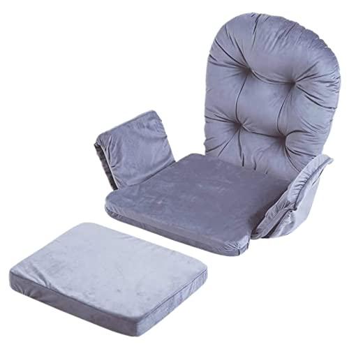 GUORZOM Tinta Unita Sedia Cuscini Set Insieme a Tasche Portaoggetti, Morbido Velluto di Cotone Cuscini per sedie e Set di Cuscinetti per feci, per Sedia a Dondolo, Sedia Ufficio Cuscino Sedia