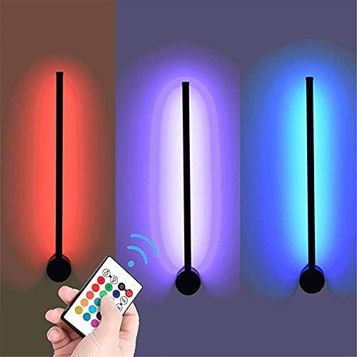WYZXR Lámpara de Pared LED con Control Remoto, lámpara de Aplique Regulable con Cambio de Color, lámpara de Pared de 15 W, iluminación Interior Inteligente RGB, Luces de Lavado de Pared para Sala d