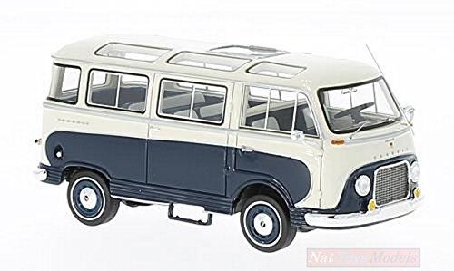 Ford Taunus Transit Panoramabus, dunkelblau/weiss, 1962, Modellauto, Fertigmodell, Neo, 1:43