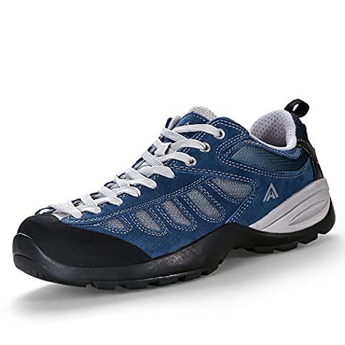 huasa Botas de Senderismo Hombre,Hombre Mujer Impermeables Zapatillas de Senderismo Montaña,Escalada Aire Libre Calzado Impermeable Ligero Antideslizantes Sneakers,40-Blue