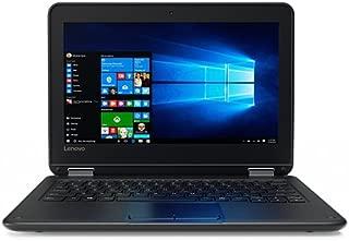 Lenovo 80UR0006US Black Flip design 11.6-inch Touchscreen 2-in-1 Business Laptop, Intel Celeron N3060, 4GB Memory, 128GB eMMC, Webcam, Wifi, Bluetooth, Windows 10 Pro