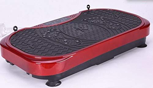 Topashe Plataforma Vibratoria 3D para,Máquina de Adelgazamiento de música Ultrafina, máquina de agitación Perezosa-roja,Plataforma Vibratoria Oscilante