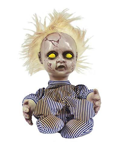 Horror-Shop Schreiende & strampelnde Baby Puppe als Halloween Animatronic