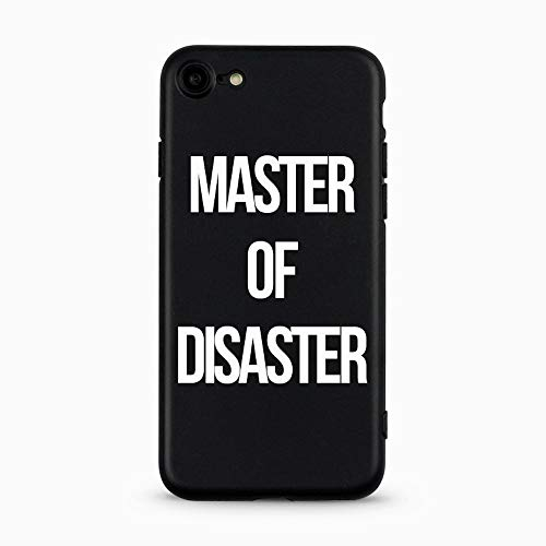 AVANA iPhone 7 / iPhone 8 Hülle Ultra Dünne Schutzhülle Flexibles Slim Fit Case Schwarze Handyhülle Tasche Silikon Black Cover Kameraschutz Muster (Master of Disaster)