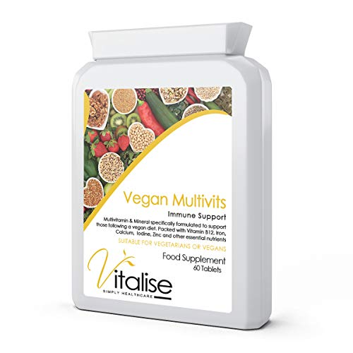 Vegan Multivitamin & Mineral Supplement, Immune Support - 60 Tablets