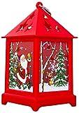 BBGSFDC La Noche Light Vela de Navidad con Soporte LED Jaulas impresión de Velas de Navidad decoración del hogar