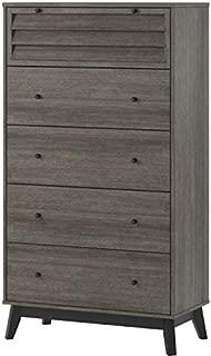 Ameriwood Home Vaughn 5 Drawer Dresser, Gray Oak
