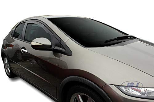 J&J AUTOMOTIVE DEFLETTORI ARIA ANTITURBO per Honda Civic VIII 5 porte 2006-2012 HTB 2 pezzi