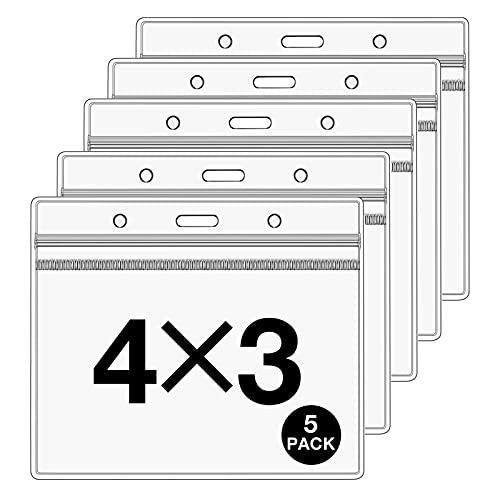 5 protectores de tarjetas de vacuna CDC de 4 x 3 pulgadas, funda de plástico para protector de tarjetas de vacunación, soporte transparente para tarjetas de vacunación, soporte...