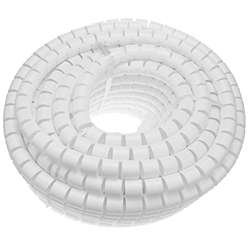 BeMatik - Organizador de Cables. Funda Blanca con Clip de 20-25 mm...