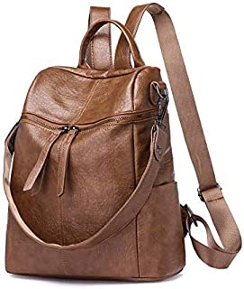 Retro Style Girl Backpack Casual Laptop School Backpack Hiking Backpack Bag Purse/Teen Backpack Laptop Bag Brown