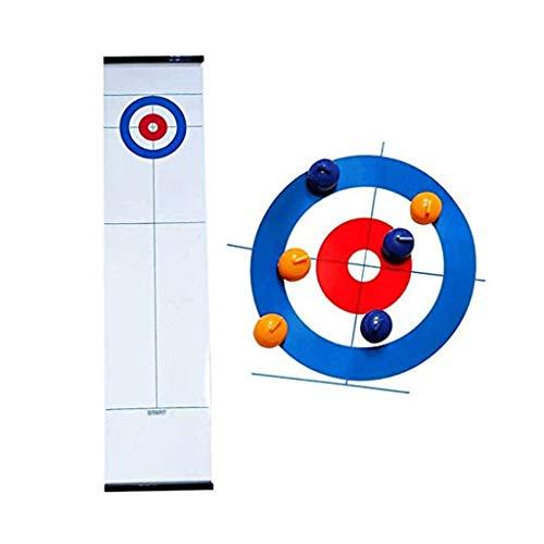 YYL Schnelles Sling Puck Spiel Tabletop Curling Lustige Familienspiele mit 8 Rollers Family Fun Brettspielen für Kinder und Erwachsene Shuffleboard Pucks