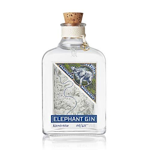 Elephant Gin Strength, elefantenstarker Dry Gin (57% Vol) mit intensivem Aroma und weichem Charakter (1x 0,5 L)