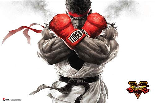 Great Eastern Entertainment Street Fighter V - Ryu Key Art Poster 36x24 inches
