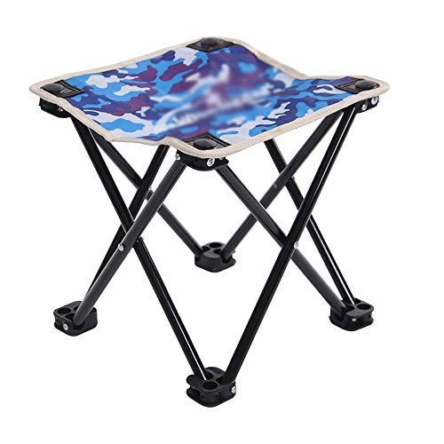 Chaise pliante Chaise Pliante Robuste Et Durable Portable Petit Tabouret Chaise De Pêche En Mer Chaise De Loisirs En Plein Air Tabouret De Camping Camouflage 27x27x25cm (Couleur : B)