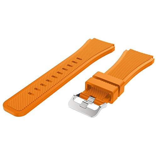 HHKHFA Correa de 20 colores para Huawei Honor Magic Watch 2 GT GT2 GT 2 46 mm 22 mm Correa de reloj pulsera de silicona deportiva (color de la correa: naranja, ancho de la correa: 22 mm)