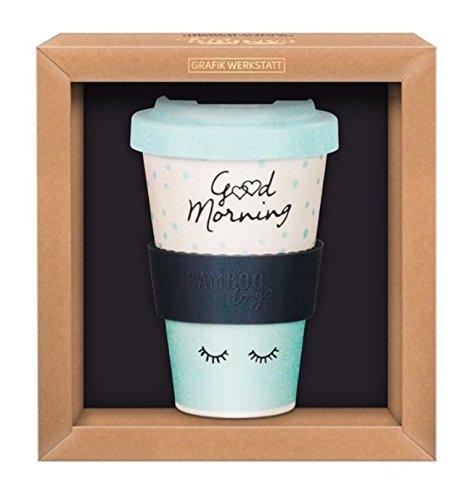 Grafik Werkstatt Das Original 60762 Kaffeebecher Good Morning, Bambus, 400 milliliters
