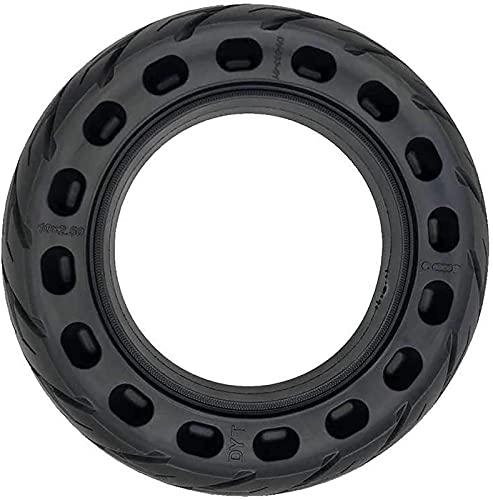 WYDM Neumático sólido Nido de Abeja Fluorescencia Rueda de Goma Antideslizante Reducción de la vibración 10 Veces; 2/2.50 1PC Rueda Delantera/Trasera Sin neumáticos de Repuesto Adecuado para Scooter