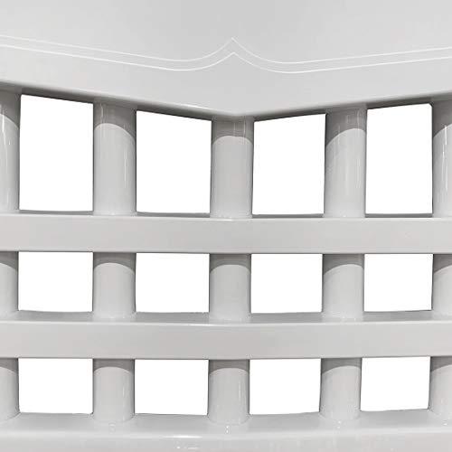 416+8i L1iL - CStern Samurai Style Frontgrill Kühlergrill Kühlergitter Lüftungsgitter Glänzend Weiß für Jeep Wrangler JK 2007-2018