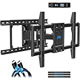 """Mounting Dream TV Wall Mounts TV Mount for 42-70inch TVs, Full Motion TV Wall Mount TV Bracket with Max VESA 600x400mm up to 100 LBS, Full Motion TV Mount with Articulating Arms Fits 16-24"""" Wood Studs"""