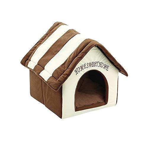 Weiche Hundehütte Innen Klein Mittel Hundehütten, Tragbares Haustier Faltbare Haustier Haus & Sofa Tragbar Hundehütte Katzenbett Gemütlich Plüsch Hundehöhle Kennel, Hundebett Hundesofa