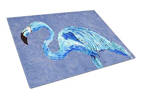 Caroline's Treasures Flamingo on Slate Planche à découper en verre Bleu Taille L Multicolore