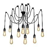 Lampop Lámpara Luz de Colgante Industrial de Araña Estilo Vintage Lámpara de Techo Retro con los brazos colgantes para cada bulbos E27 máximo 60W