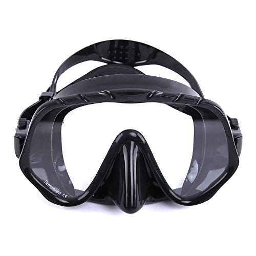 Traje de máscara Gafas de Buceo de Snorkel de Buceo Duradero for Buceo de Buceo Snorkeling Buceo Gratis for Adultos y jóvenes Adecuado para Snorkeling (Color : Black, Size : One Size)