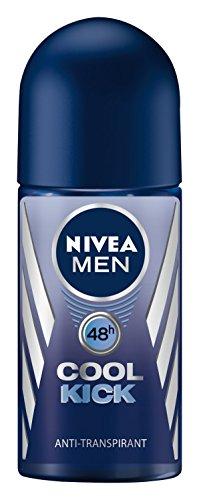 Nivea Men Cool Kick Deo Roll-on, Antitranspirant, 3er Pack (3 x 50 ml)