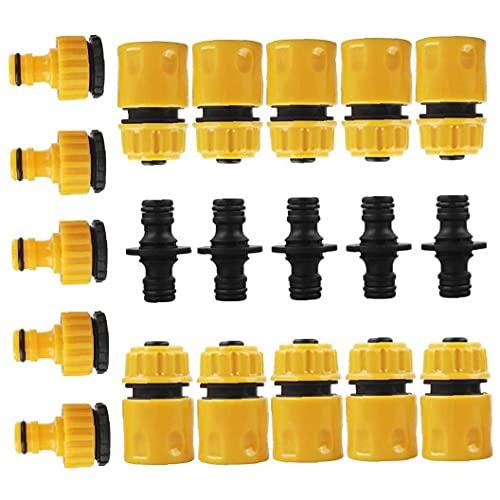 Hainice Conjunto de Accesorios de Conector de Manguera para unirse Tubo de Tubo de Manguera de jardín, Kit de Conector de Grifo de Manguera para riego, Lavado de automóviles, Lavadora, con Manguera