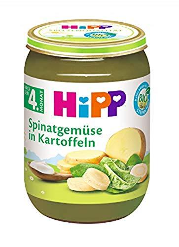 Hipp Gemüse, Spinatgemüse mit Kartoffeln, 6er Pack (6 x 190 g)