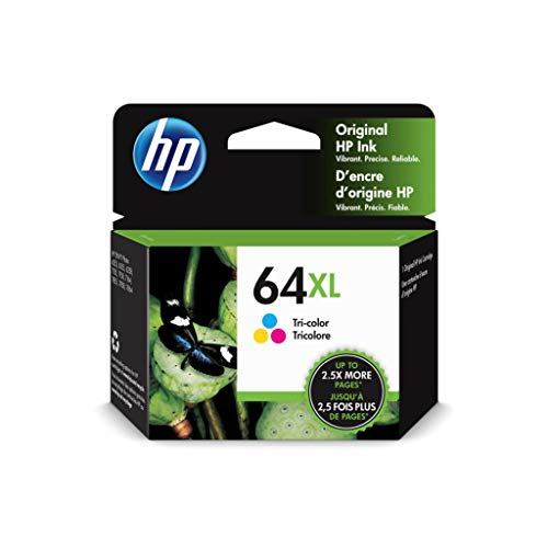 HP 64XL | Ink Cartridge | Tri-Color | Works with HP ENVY Photo 6200 Series, 7100 Series, 7800 Series, HP Tango and HP Tango X | N9J91AN
