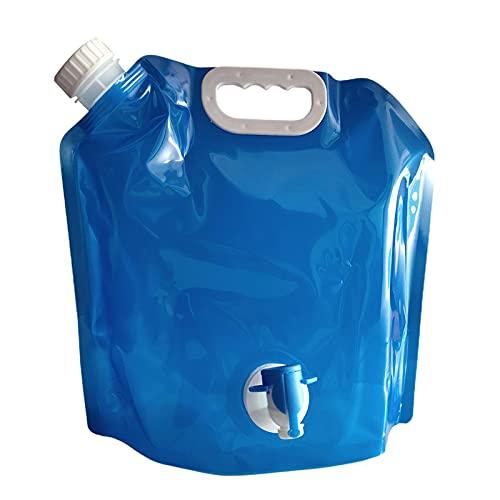 LUWEI 4 Paquete Contenedor de Agua, Bolsa de Agua Plegable al Aire Libre Coche Portador de Agua Contenedor Deporte Camping Senderismo Picnic Seguridad Plástico Agua Almacenamiento Contenedores,5L