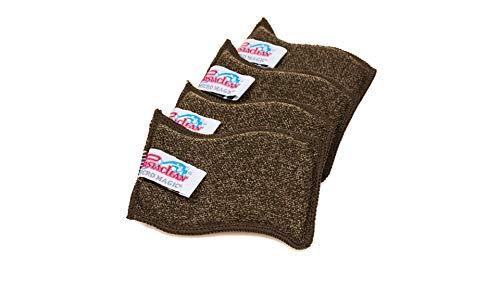 Pastaclean Wellenspülschwamm 4er Set sanft zum Geschirr - stark gegen Essensreste - Mikrofaser Reinigungsschwamm - ideal für Töpfe, Pfannen & Geschirr