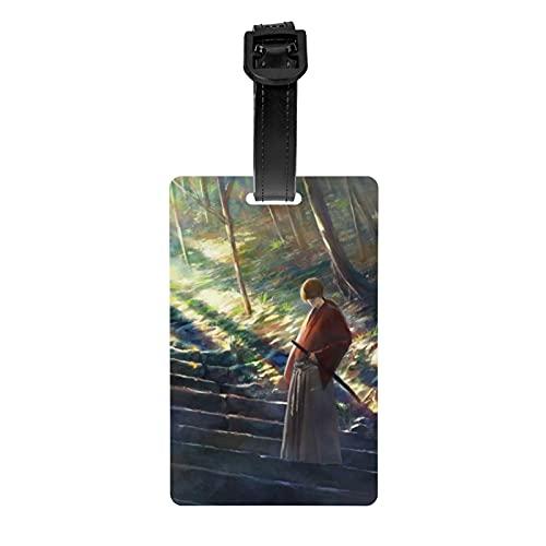 Ru-rou-ni Ken-shin Hi-mu-ra Sunshine Gepäckanhänger für Koffer, Etiketten aus PVC, Herren, Damen, Kinder, ID-Kennzeichnung, Reisegepäckanhänger mit Gurt