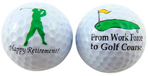 Westmon Works Retirement Golf Balls Funny Gag Gift for Golfer Gift Pack, Set of 2