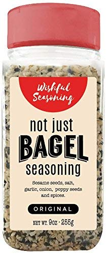 Everything Bagel Seasoning Blend Xl Original - Delicious Blend Of Sea Salt, Garlic & Onion Flakes, & Sesame Spices - Bagel Allspice, Multi Seasoning Shaker Jar, Keto & Gluten Free Facility