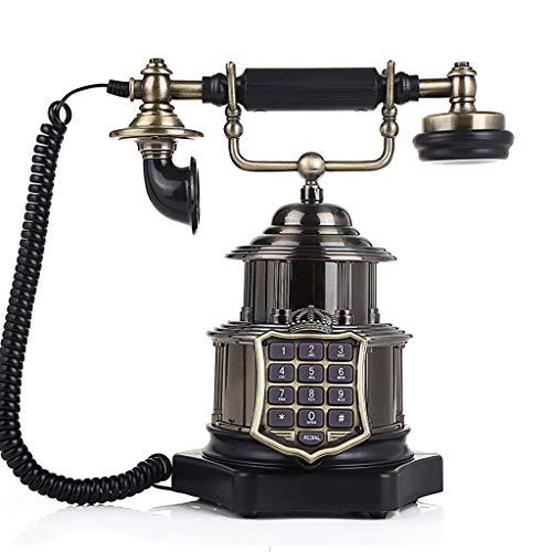 Teléfono Retro/Teléfono de la Vendimia/Teléfono Retro, Teléfono de la Copa Europea de la Corona Creativa Teléfono Fijo, Support FSK y DTMF Identificador de Llamadas, para Figurine Cafe Bar Ventana