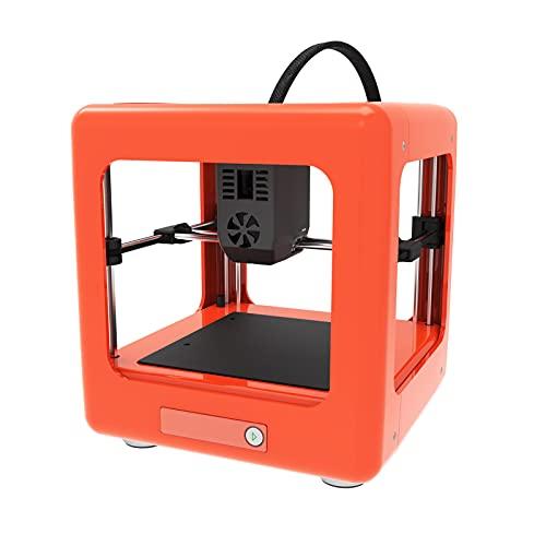 BuyWeek Mini Impresora 3D, NANO Kit de Impresoras 3D Completamente Montado Impresora 3D FDM para Educación Doméstica 90x100x110mm Tamaño de Impresión Naranja(Enchufe de la UE)