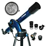 Meade Instruments – StarNavigator NG 90mm Refracting Computerized GoTo Astronomy Telescope w/AudioStar 30,000+ Object-Database & Audio Tours – Mount & Tripod Included – for Beginner Adults & Family