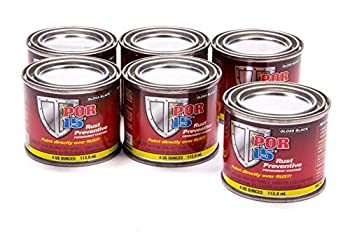 POR-15 Rust Preventive Coating - 6 Pack - Gloss Black | Stop Rust & Corrosion Permanently | Anti-Rust Protective Barrier