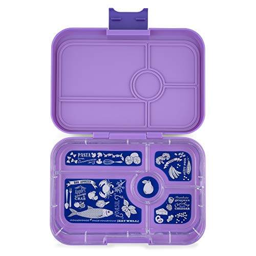 Yumbox Tapas XL Lunchbox (5er, Dreamy Purple) – Bento Box für Erwachsene und Jugendliche | Unterteilte Brotdose | Auslaufsicher getrennte Fächer