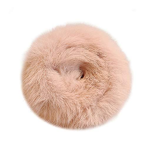 LPOQW Coletero esponjoso con pompón para el pelo, coleta, esponjoso, coleta, pompones de bola, para mujeres y niñas, accesorios para el pelo, color rosa