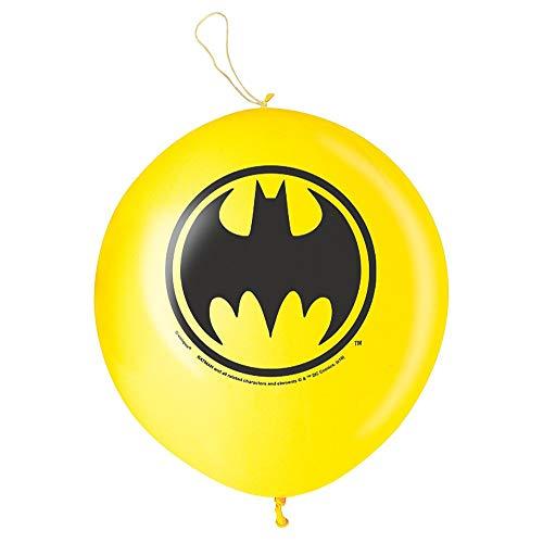 Unique Party 49938 - Globos de bola de boxeo de Batman, paquete de 2